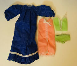 Lot of 3 Mattel Barbie doll clothes 70s 80s Nightgowns Pajamas Underwear $9.99