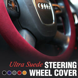 Ultra Suede Steering Wheel Cover Auto Accessories 5 Color for All Vehicle