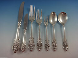 Grande Baroque By Wallace Sterling Silver Flatware Set For 6 Service 42 Pieces