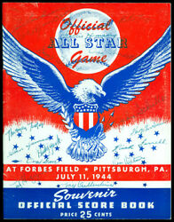 1944 All-star Game Program Autographed/signed By 16 Players On Cover - Psa/dna