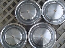 1973 73 Cadillac Cady Fleetwood Hubcaps Wheel Covers Antique Vintage Classic