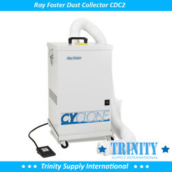 Ray Foster Cyclone Dust Collector Cdc2 Dental Lab With Remote Foot And Mobile Cart
