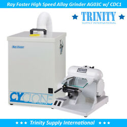 Ray Foster Ag03c Alloy Grinder Ag03 W/ Dust Collector Dental Cdc1. Made In Usa
