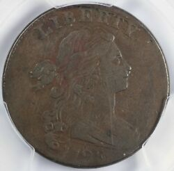 1798 1c 2nd Hair Style Draped Bust S-173 Large Cent Pcgs Vf 35