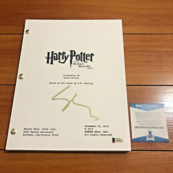Gary Oldman Signed Harry Potter And The Deathly Hallows Part 2 Movie Script W/ Coa