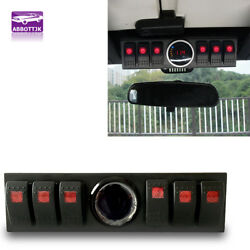 6 Rocker Switch Panel Cotrol Relay Box With Digital Voltmeter Jeep JK JKU 09-17