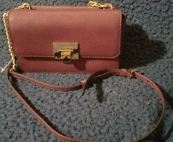 MICHEAL KORS Tina Wallet and Clutch XBODY BrownPLum