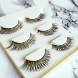 3 Pairs of Handmade Vegan Mink Extra Long Full Dramatic False Lashes Eyelashes
