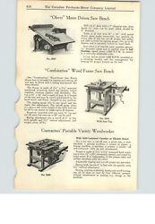 1925 Paper Ad 4 Pg Oliver Wood Working Power Equipment Table Rip Variety Saws