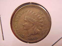 1859 Indian Head Cent - Au - See Pics - X2005
