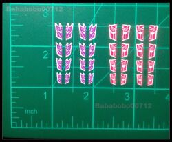 New Autobotos Decepticons Symbol White border chapped stickers for toy
