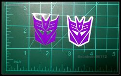 New Decepticons Symbol White border amp; hollow large stickers for toy