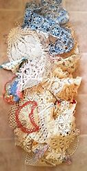 Huge Lot 50 Vintage Antique Lace Crocheted Tatted Runners Tablecloths Doilies 8