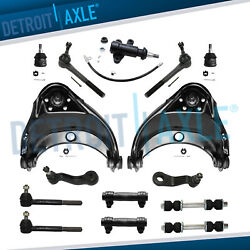 Front Upper Control Arms Ball Joints Tie Rods Chevy Gmc 2wd Control Arms Kit 15p