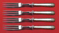 Candlelight By Towle Sterling Silver Fruit Fork Set 4-piece Custom Made 6 Hhws
