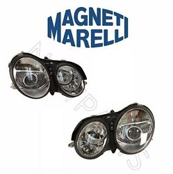 For Mercedes Cl-class 03-06 Right And Left Xenon Headlight Assemblies Set Magneti