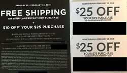Lane Bryant Coupons - $10 off $25 + Complimentary Shipping & (2) $25 off $75