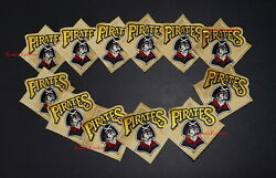 Pittsburgh Pirates Gold Official Mlb Patches - 12 Pack Combo - Baseball Leagues