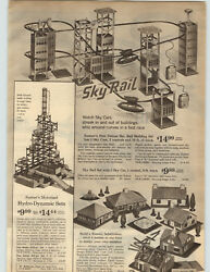 1963 Paper Ad Kenner Sky Rail Building Train Electric Allstate New Haven Engine