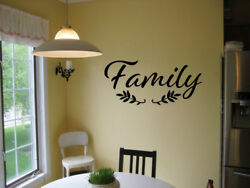 FAMILY WALL QUOTE DECAL STICKER VINYL HOME STICKER FAMILY DECAL FARMHOUSE DECAL