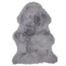 Large Silver Grey Genuine Real Soft Sheepskin Rug Pelt Hide Extra Thick Luxury