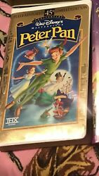 Peter Pan Vhs, 1998, 45th Anniversary Limited Edition, Clamshell 786936057713