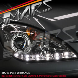 Clear Led Drl Projector Head Lights For Mercedes-benz Slk R171 Hid Model Only