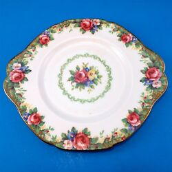 Colorful Paragon Tapestry Rose Cake Plate 9 3/4