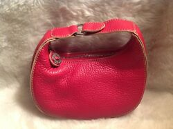 Cole Haan Cosmeticmake up bag red leather Designed Especially for Ester Lauder
