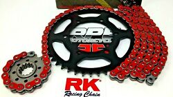 Red Ducati Monster 620 Dark Md Monodisco Rk Max-x 520 Chain And Sprockets Kit