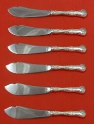 Pompadour By Whiting Sterling Silver Trout Knife Set Hhws 6pc Custom