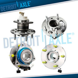 2000 - 2013 Chevy Impala Monte Carlo W/abs Front Wheel Bearing And Rear Hub Assy