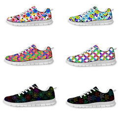 Butterfly Ladies Girls School Sneakers Sport Running Trainers Lace up shoes