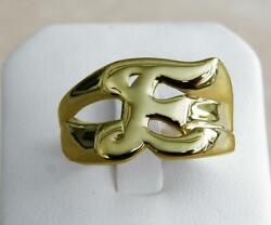 Classy Solid 14k Gold E Letter Name Initial Signet Ring Mens Women A True Beauty