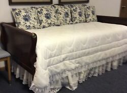Vintage Twin Sleigh Trundle Bed
