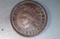 1885 Indian Head Ihc, Ddo, Au, Doubled Letters And Feathers, Cherry Picker