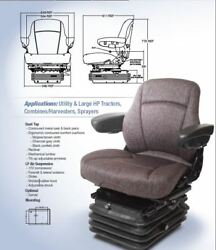Air Suspension Seat For Massey Ferguson Tractor, Combine Charcoal Gray Color