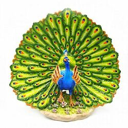 Peacock With Fan Tail Up