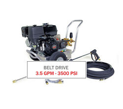 Hotsy 3500 Psi 3.5 Gpm Gas Engine Belt Drive - Cold Water Pressure Washer