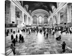 New York City - Grand Central Station Canvas Wall Art Print, New York City Home