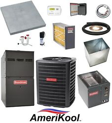 UP-FLOW_MOST COMPLETE 80% 100k btu Gas Furnace & 3-12 Ton 13 SEER AC + EXTRAS