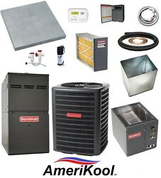 UP-FLOW_MOST COMPLETE 80% 120k btu Gas Furnace & 3-12 Ton 13 SEER AC + EXTRAS