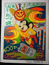 Ronnie Cutrone Mighty Mouse Hand Embellished Serigraph