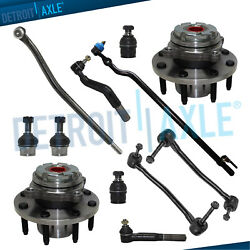 12pc Front Wheel Bearing Drag Link Ball Joint Kit - Srw Coarse Thread 4wd