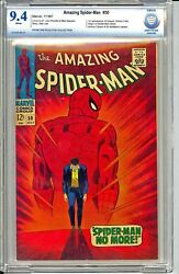 AMAZING SPIDER-MAN #50  CBCS  9.4  1ST KINGPIN!  WHITE PAGES! SUPER HOT BOOK!
