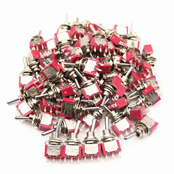 50pcs Sh T8013 3 Pins On-on Spdt 2position Maintained Mini Toggle Switch