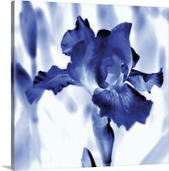 Solid-Faced Canvas Print Wall Art entitled Blue Ice Iris