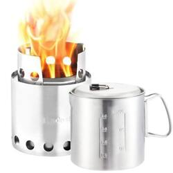 Solo Stove & Pot 900 Combo: Ultralight Wood Burning Backpacking Cook System....