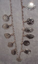 Towle Sterling Silver 12 Days Christmas Complete Charm Necklace Set 19711982