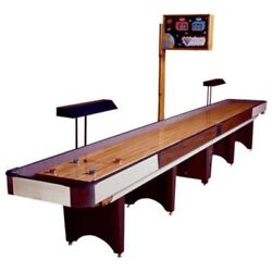 Classic Coin-Op Shuffleboard Table – Gaming Board With Playing Accessories